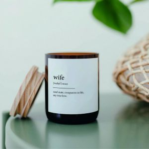 Dictionary Meaning Soy Candle | Wife