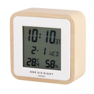 Digital Alarm Clock Wooden by One Six Eight London
