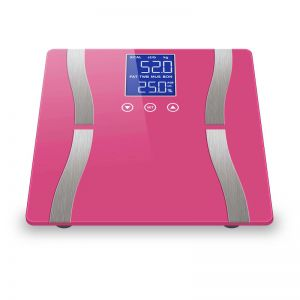 Digital Body Fat Scale Bathroom Scales Weight Gym Glass Water LCD Electronic Pink