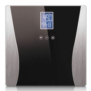 Digital Body Fat Scale Bathroom Weight Gym Glass Water LCD Electronic Black