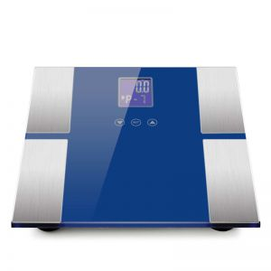 Digital Electronic LCD Bathroom Body Fat Scale Weighing Scales Weight Monitor Blue