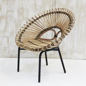 Diia Rattan Armchair in Natural with Black Trim l Pre Order