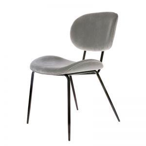 Dining Chair | Velvet Cool Grey | HK Living