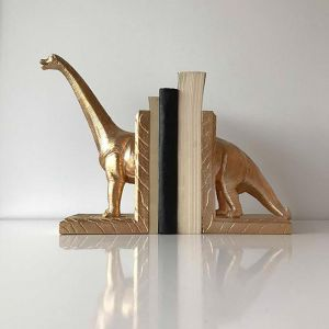 Diplodocus Bookends | Black, White or Gold