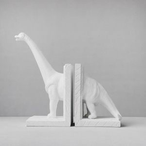 Diplodocus Bookends | White
