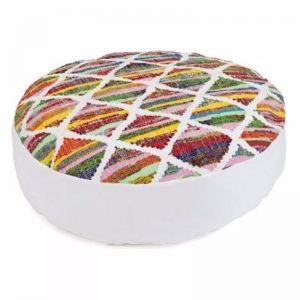 Diya Round Floor Cushion Cover | 80cm