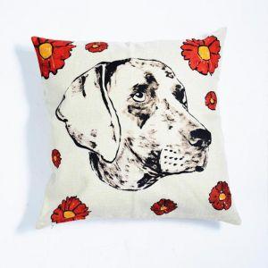 Dogman Linen Pillow