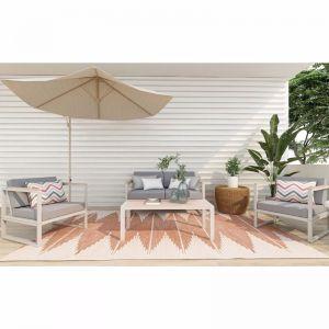 Dolly Aluminium Outdoor Sofa Set | Set of 4