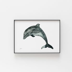 Dolly the Dolphin Art Print by Pick a Pear | Unframed