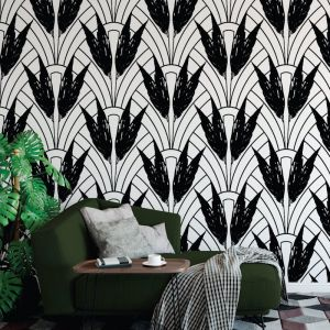 Dolores - Nature's Glamour Collection | Eco Wallpaper | Dolores Black | Amba Florette