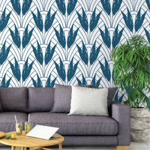 Dolores - Nature's Glamour Collection | Eco Wallpaper | Dolores Blue | Amba Florette