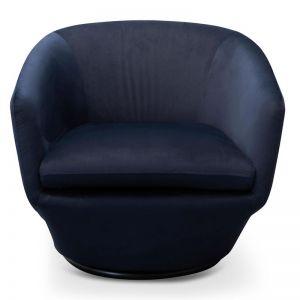 Donna Lounge Chair | Navy Velvet | Interior Secrets