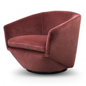 Donna Velvet Lounge Chair | Blood Orange