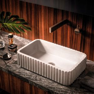 Doric Rectangle Basin | Meek Bathware