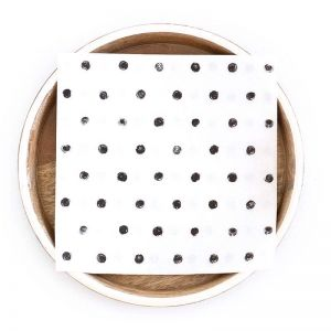 Dotty Paper Napkins   Compostable 3 Ply