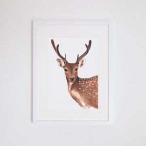 Dotty the Deer | Giclee Print | by For Me By Dee