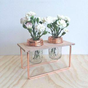 Double Copper Flower Frame