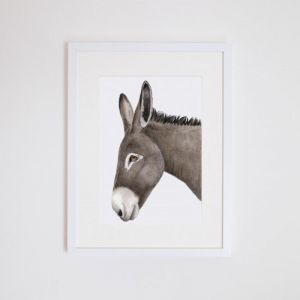 Doug the Donkey | Giclee Print | by For Me By Dee