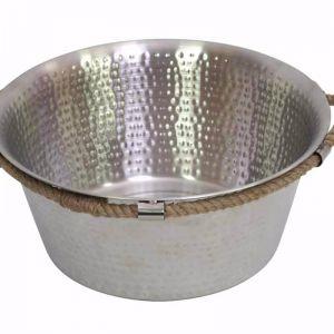 Drift Entertaining Bowl w/ Handles | Silver