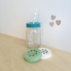 Drinking Jar Set with Extra Lids