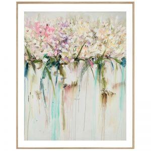 Drip Flowers | P1004-290 | Framed Print | Colour Clash Studio