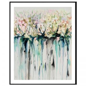 Drip Flowers / P1004-293 / Framed Print / Colour Clash Studio