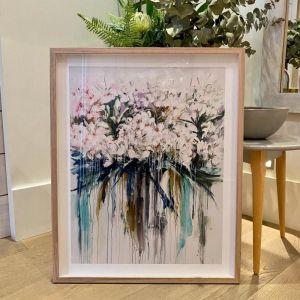 Drip Flowers | P1004-339 | Framed Print | Colour Clash Studio