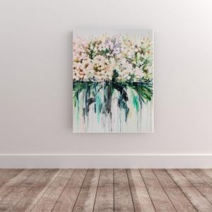 Drip Flowers | P1004-344 | Canvas Print | Colour Clash Studio