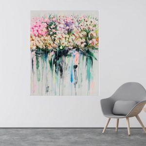 Drip Flowers | P1004-346 | Canvas Print | Colour Clash Studio