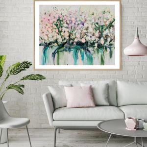 Drip Flowers | P1004-357-2 | Framed Print | Colour Clash Studio