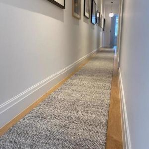 Dropletts Handmade Wool Hall Runner | Light Grey | Custom Length | Preorder Early December 2021