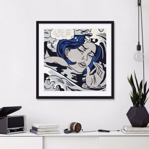 Drowning Girl by Roy Lichtenstein | Unframed Art Print