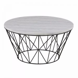 Dudley Coffee Table Marble | 80cm | White