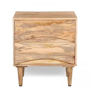 DUKE Bedside Table | Solid Wood Natural | Modern Furniture