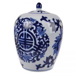 Dynasty Bulb Lidded Vase
