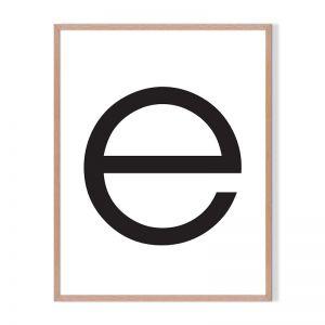 E | Framed Print | Artefocus