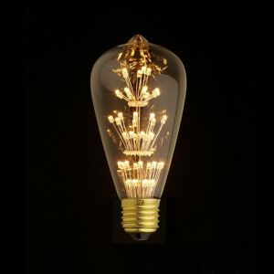 E27 LED Firework Bulb Globe 2W ST64 | 1 Pack