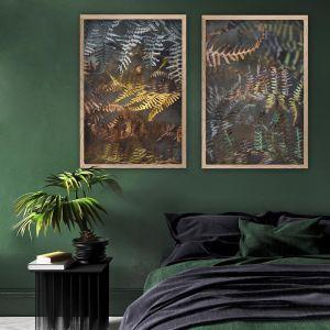 Earthy Ferns 1 | Set of 2 Art Prints | Framed or Unframed