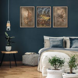 Earthy Ferns 3 | Set of 3 Art Prints | Framed or Unframed