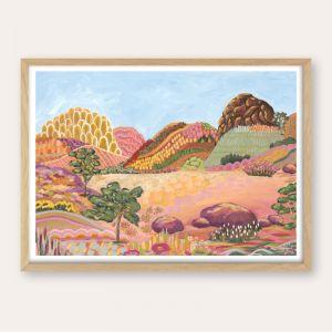 Earthy Outback Ranges | Abstract Landscape | Unframed Fine Art Print
