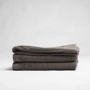 ecoLinen Organic Cotton Bath Mat | white or donkey brown