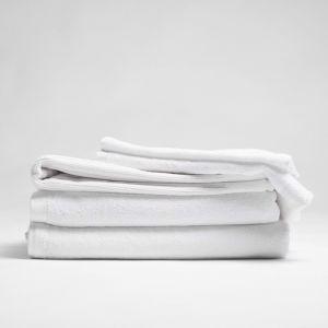 ecoLinen Organic cotton bath sheet | white