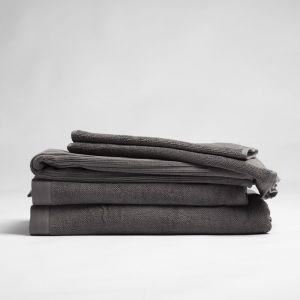 ecoLinen Organic Cotton Bath Towel | white or donkey brown