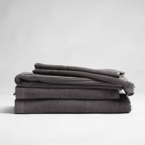 ecoLinen Organic Cotton Bath Towel | White or Donkey Charcoal