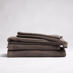 ecoLinen Organic Cotton Hand Towel   white or mocha