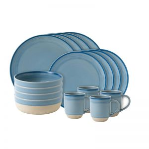ED Ellen DeGeneres collection - 16 Dinner Piece Set Brushed Glaze Polar Blue
