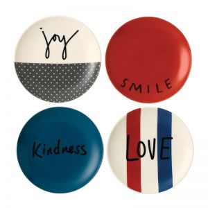 ED Ellen DeGeneres collection - Plate 16cm Joy Set of 4