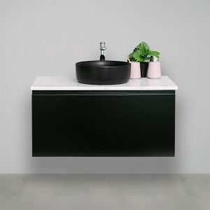 Edge 20mm Solid Surface Top 900 Wall Mount Vanity