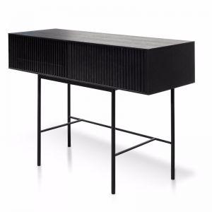 Edmund 120cm Console Table - Black Oak