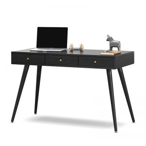 Einar 3 Drawer Office Writing Desk | Black